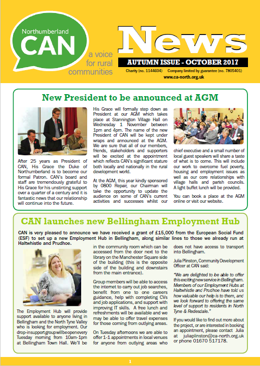 Autumn CAN newsletter out now